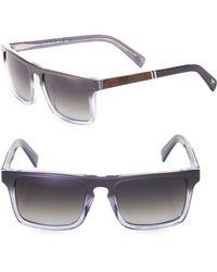 Shwood - 52mm Polarized Rectangle Sunglasses - Lyst