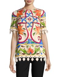 New Styles For Sale Dolce & Gabbana tile print blouse Discount Top Quality Outlet With Paypal Order For Sale Very Cheap Pictures Online h44Nz