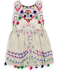 Hemant & Nandita - Little Girl's & Girl's Silk Pom Pom Dress - Lyst