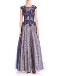 Basix Black Label | Cap Sleeve Lace Gown | Lyst