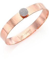 Phillips House - Affair Infinity Love Always Diamond & 14k Rose Gold Bangle Bracelet - Lyst
