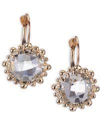 Anzie - Dew Drop White Topaz & 14k Yellow Gold Earrings - Lyst