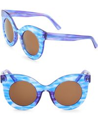 Andy Wolf - Millicent 49mm Thick Frame Cat Eye Sunglasses - Lyst