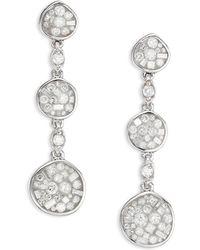 Plevé - Pebble Ice Diamond & 18k White Gold Drop Earrings - Lyst