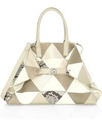 Akris - Ai Small Patchwork Leather Tote - Lyst