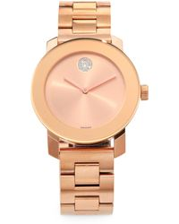 Movado - Bold Rose Goldtone Ip Stainless Steel Bracelet Watch - Lyst
