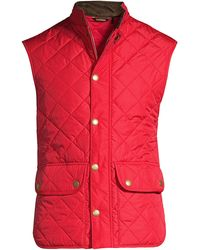 Barbour Lowerdale Diamond-quilted Vest - Red