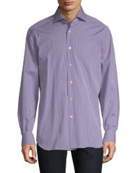 Kiton - Cotton Gingham Button-down Shirt - Lyst
