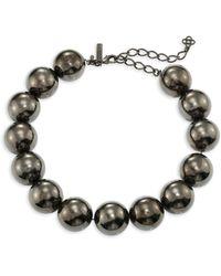 Oscar de la Renta - Bold Beaded Necklace - Lyst