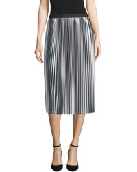 Eileen Fisher - Collection Ombre Pleated Skirt - Lyst