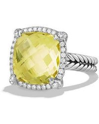 David Yurman - Chã¢telaine® Pave Bezel Ring With Gemstone And Diamonds - Lyst