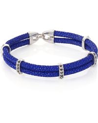 Stinghd - Black Diamond, Silver & Stingray Wrap Bracelet - Lyst