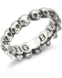 King Baby Studio | Sterling Silver Skull Infinity Ring | Lyst
