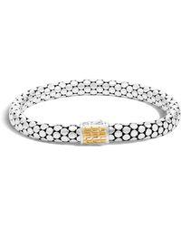 John Hardy - Dot Sterling Silver & 18k Gold Small Chain Bracelet - Lyst