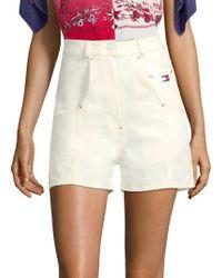 Tommy Hilfiger - Hi-rise Cotton Workwear Shorts - Lyst