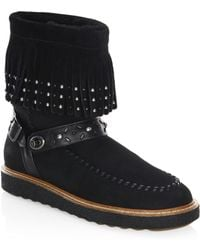 COACH - Roccasin Shearling-lined Suede Boots - Lyst