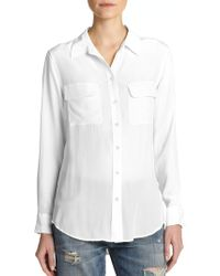Equipment - Slim Signature Silk Shirt - Lyst