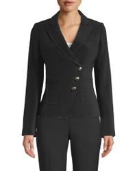 Smythe - Tailored Double-breasted Wrap Blazer - Lyst
