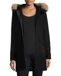 Trina Turk - Riley Hooded Fur-trim Duffle Coat - Lyst