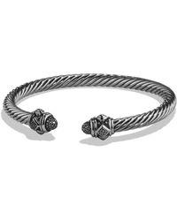 David Yurman - Renaissance Bracelet With Diamonds In Silver, 5mm - Lyst