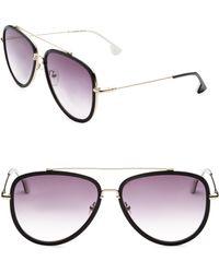 f4865d39a1 Alice + Olivia Aberdeen Square Sunglasses in Black - Lyst