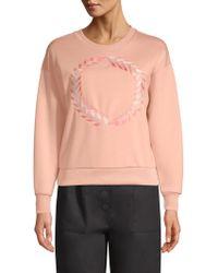 Maje - Laurel Embroidery Sweatshirt - Lyst