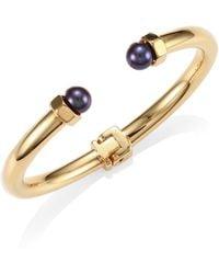 Vita Fede - Luciano 18k Yellow Gold & Swarovski Pearl Bracelet - Lyst