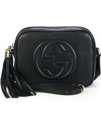 3c68546a91ee Lyst - Gucci Soho Leather Mini Chain Bag in Metallic