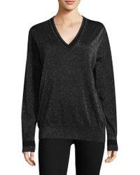 Equipment - Lucinda V-neck Lurex Sweater - Lyst