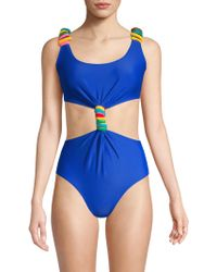 Paper London - Barbuda Twist-front One-piece Swimsuit - Lyst