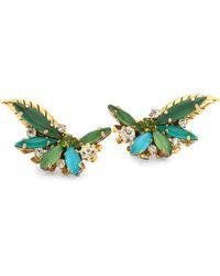 Erickson Beamon   Emerald City Crystal Stud Earrings   Lyst