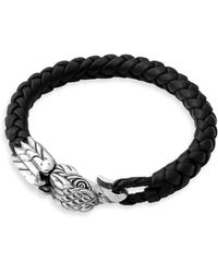 King Baby Studio - Eagle Leather And Sterling Silver Bracelet - Lyst