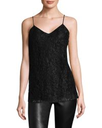 Lafayette 148 New York - Beaded Lace Silk Blouse - Lyst