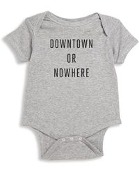 Knowlita - Baby's Downtown Or Nowhere Bodysuit - Lyst