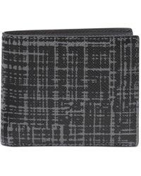 Michael Kors - Patterned Leather Bi-fold Wallet - Lyst