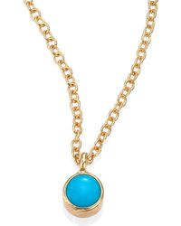 Zoe Chicco - Turquoise & 14k Yellow Gold Pendant Necklace - Lyst