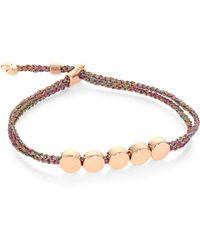 Monica Vinader - Linear Bead Friendship Bracelet/rainbow - Lyst