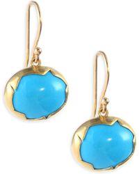 Annette Ferdinandsen - 18k Gold And Turquoise Drop Earrings - Lyst