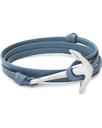 Miansai - Stainless Steel And Leather Anchor Bracelet - Lyst