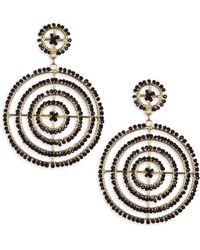Kenneth Jay Lane - Jet Bead Gypsy Hoop Earrings - Lyst