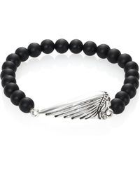King Baby Studio - Onyx Bead & Sterling Silver Bracelet - Lyst