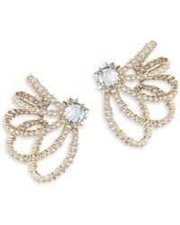 Alexis Bittar - Crystal Lace Orbiting Goldtone Post Earrings - Lyst