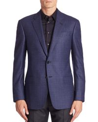 Giorgio Armani - Virgin Wool Long Sleeve Jacket - Lyst