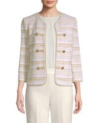 St. John - Tweed Stripe Jacket - Lyst