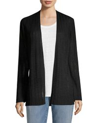 Eileen Fisher - Organic Linen & Silk Cardigan - Lyst
