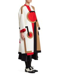 Dior - Double Face Intarsia Coat - Lyst