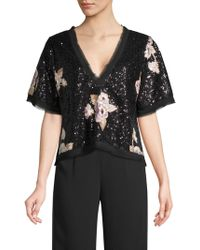 Nanette Lepore - Daffodil Floral Sequin Top - Lyst