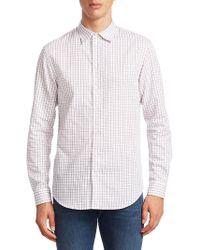 Emporio Armani - Check Button-down Shirt - Lyst