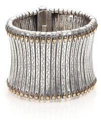 Konstantino - Hebe 18k Yellow Gold & Sterling Silver Cuff Bracelet - Lyst
