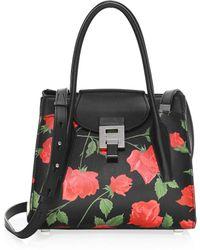 Michael Kors - Bandcroft Medium Floral Leather Satchel - Lyst